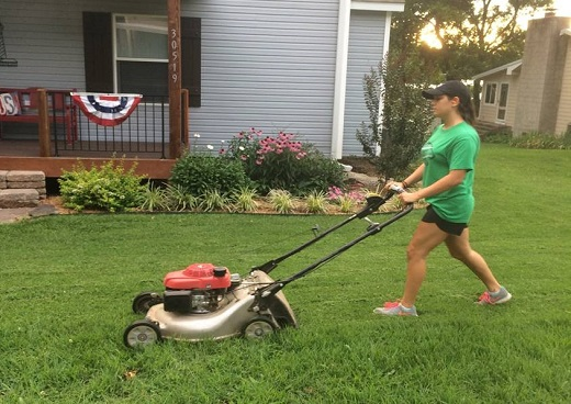 Lawn mowing can provide youth with summer income.