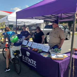 K-State Research and Extension booth at a community event